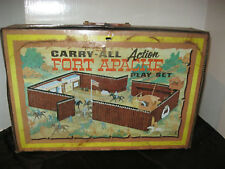 Vintage Marx Fort Apache Carry All Toy Box Case Tin Playset case only