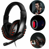 Stereo Wired Gaming Headsets Headphones with Mic for  PC Computer Phone OW