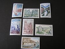FRANCE, SCOTT # 1124-1130(7), COMPLETE SET 1965 PICTORIAL ISSUE MVLH