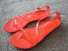 Rare CROCS Women's Orange Really Sexi Strappy Gladiator Sandals Sz 9~Ships FREE