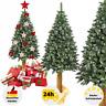 Künstlicher Weihnachtsbaum Kunstbaum Tannenbaum 180 Christbaum Holzstamm Schnee