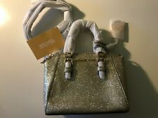 NEW Michael Kors 35H9GGFC8O Ciara XS Mini Leather Crossbody PALE GOLD $328