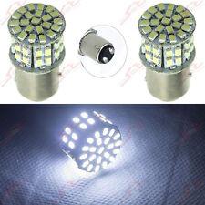 2x BAY15d 1157 P21/5W Bremslicht Rückleuchte 50SMD 1206 LED Lampe Birne *Weiß*