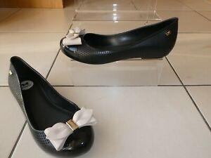 *ZAXY* Ladies Black Classic Bow POP BEAUTY BALLERINA FLATS uk5 eur38 BNIB rrp£42