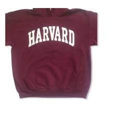 Harvard Mens Pullover Hoodie Sweatshirt Maroon Burgundy Red Gildan Size Large