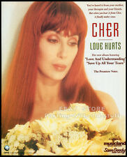 CHER : LOVE HURTS__Original 1991 Print AD music promo / mini-poster advert