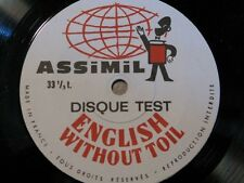 ++ASSIMIL DISQUE TEST english without toil SP RARE VG++