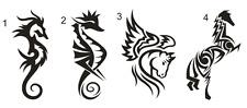 1 Sticker Voiture , Cheval ou Hippocampe Tribal - 20cm - le 2ème à 3.50€