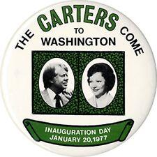 Large 1977 Jimmy Roselynn Carter Inauguration Souvenir Button (2180)