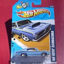 Light Blue 1968 HEMI BARRACUDA Muscle Mania - MOPAR 12  New SEALED Blister Pack!