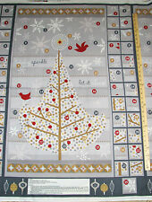"Holiday Sparkle Advent Calender Insights Christmas Fabric Panel 29""  #72101"
