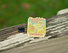Daddy's Day Outback Steakhouse Alligator Crocodile Mowing Lawn Beer Pin Pinback