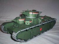 Modelik 01/08 - Mehrturm-Schwerpanzer T-35   1:25  mit Lasercutteilen