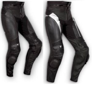 Leather Trousers CE Armored Slider Motorcycle Touring Apparel A-Pro