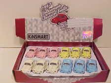 12 Pack of 1967 Vw Volkswagen Bug Diecast Car 1:64 Kinsmart 2.5inch Solid Pastel