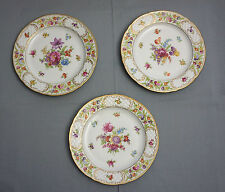 "Dinner Plates 10 1/8"" SCHUMANN Bavaria EMPRESS DRESDEN FLOWERS LOT OF 3"