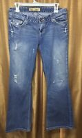 BKE Denim Sabrina Jeans Womens Size 27 x 31.5 Distressed Medium Wash Boot Cut