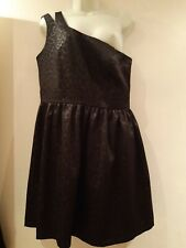 Black One Shoulder Dress.  Size 14. F & F