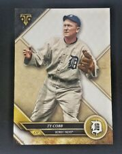 """2017 TOPPS TRIPLE THREADS TY COBB ONLINE EXCLUSIVE 5X7"""" #/49 TIGERS #75"""