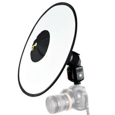 New 44cm Foldable Beauty Dish Softbox Speedlite Flash Diffuser for Photography