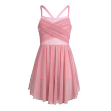 Girls Lyrical Dance Leotard Ballet Latin Dress Dancewear Sequined Costume Skirt
