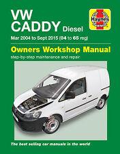 Haynes Car Workshop Repair Manual VW Caddy Diesel (Mar 04-Sept 15) 04 to 65
