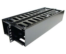 Black Computer Cable Horizontal Managers Ebay