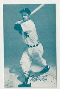 Nelson Fox 1980 blue exhibit card / Chicago White Sox