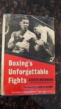 Boxing's Unforgettable Fights (by Lester Bromberg) (SIGNED to John Condon) AXL