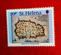 QE11 ST.HELENA POSTAGE STAMP 20p MAP c1815 MINT HINGED
