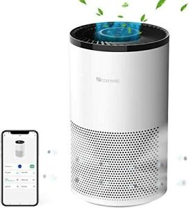 Proscenic A8 Air Purifier for Home with True HEPA Filter, APP Control, Alexa & G