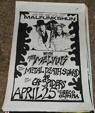 Malfunkshun Andy Wood The Melvins Metal Death Squad 64 spid concert flyer poster