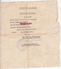 Taufschein Übersetzung Lipine Kattowitz 1927 Peschke Stempel Schlesien Dokument