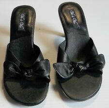 Vis A Vie Womens 7.5 M Sandals - Slip On Shoes  with Bow & Heels