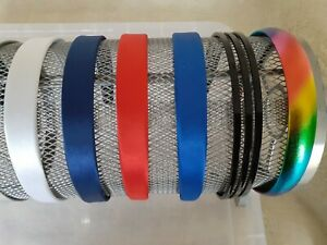 2cm Wide Satin Covered  Alice band - Choice of 6 Colours