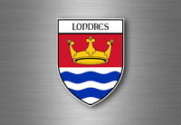 Sticker decal souvenir car coat of arms shield city flag london uk england