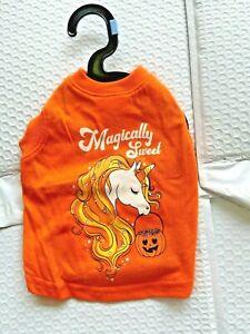 Halloween magically Sweet Orange Unicorn Glow in the dark Dog Shirt