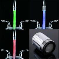 Shower Kitchen/bathroom Glow Led Light Temperature Sensor Water Faucet Tap