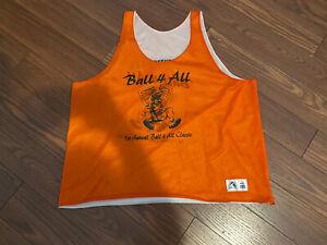 Tournament League Used Reversible Basketball Jersey Tank Orange / White #8
