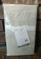 Pottery Barn Belgian Flax Linen Double Flange Euro Sham - Natural