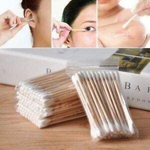600pcs Bamboo Cotton Buds Cotton Swabs Tips Medical Ear Cleaning Wood Sticks