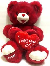 Dan Dee Large Teddy Bear Red Hearts 2006 Anniversary Valentine's Day Plush
