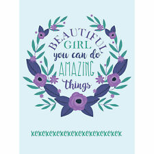 Kids Girl Beautiful Amazing Purple Floral Large Wall Art Print