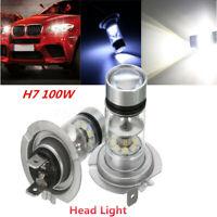 Paire H7 LED 12V/24V 100W Xenon Phare Brouillard Diurne Ampoule Lampe Voiture