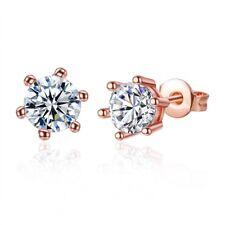 Women's Ear Stud Earrings 18K Rose Gold Filled Unique Fashion Jewelry