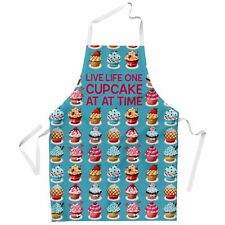Live Life One Cupcake Apron for Women Cook Bake Cake Cooking Kitchen Baking Gift
