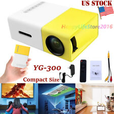 YG300 Mini HD LED Projector Home Theater Cinema 1080P USB HDMI AV For Laptop PC