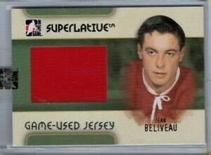 2007-08 ITG Superlative Jean Beliveau Silver Version Game Used Jersey 1 of 30