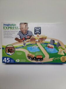 New Imaginarium Express- Pirates Bay Treasure Train-45 piece Wooden Train Set