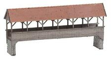 NEW HO Faller 120209 Roofed / Covered Pedestrian Bridge  : Model KIT